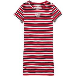 Textil Rapariga Vestidos curtos Tommy Hilfiger Kids MULTI STRIPE KNIT DRESS S/S vermelho