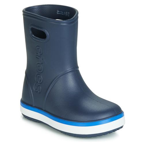 Sapatos Criança Botas de borracha Crocs CROCBAND RAIN BOOT K Marinho
