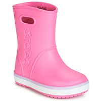 Sapatos Rapariga Botas de borracha Crocs CROCBAND RAIN BOOT K Rosa