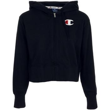 Textil Mulher Sweats Champion Hooded Full Zip Sweatshirt Preto