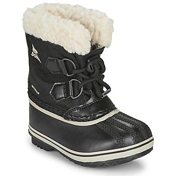 Sapatos Criança Botas de neve Sorel CHILDRENS YOOT PAC NYLON Preto