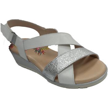 Sapatos Mulher Sandálias Pepe Menargues Sandália mulher com alças cruzadas Pepe blanco