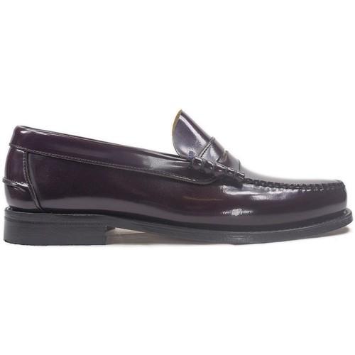 Sapatos Homem Mocassins La Valenciana Zapatos  3266 Burdeos Vermelho