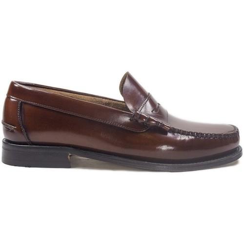Sapatos Homem Mocassins La Valenciana Zapatos  3266 Cuero Castanho