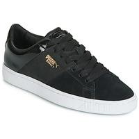 Sapatos Mulher Sapatilhas Puma BASKET REMIX Preto / Dourado