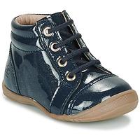 Sapatos Rapariga Botas baixas Citrouille et Compagnie NICOLE.C Marinho / Brilhante