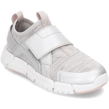 Sapatos Criança Slip on Geox Junior Flexyper Cinzento,Prateado