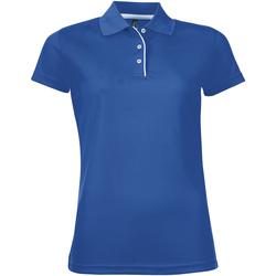 Textil Mulher Polos mangas curta Sols PERFORMER WOMEN Azul