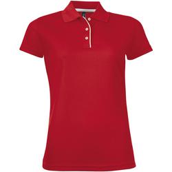 Textil Mulher Polos mangas curta Sols PERFORMER SPORT WOMEN Rojo