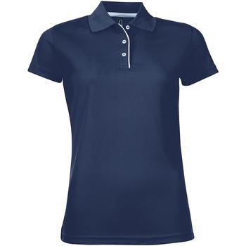Textil Mulher Polos mangas curta Sols PERFORMER SPORT WOMEN Azul
