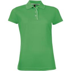 Textil Mulher Polos mangas curta Sols PERFORMER SPORT WOMEN Verde