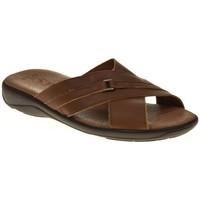 Sapatos Homem Sandálias Duendy 224 Marrón