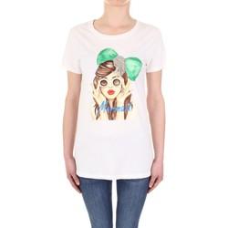 Textil Mulher T-Shirt mangas curtas Vicolo RU0081 Bege