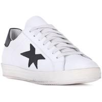 Sapatos Homem Sapatilhas At Go GO VITELLO BIANCO Bianco