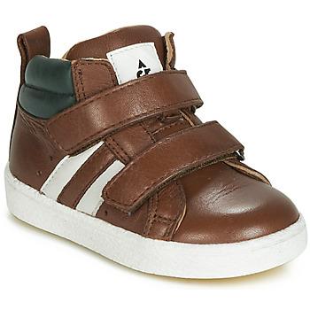 Sapatos Rapaz Sapatilhas de cano-alto Acebo's 3040-CUERO-C Castanho