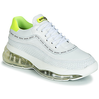 Sapatos Mulher Sapatilhas Bronx BUBBLY Branco / Amarelo