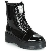Sapatos Mulher Botas baixas Bronx RIFKA SUPER CHUNKY Preto