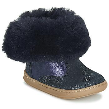 Sapatos Rapariga Botas baixas Shoo Pom BOUBA FUR BOOTS Marinho