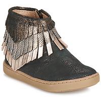 Sapatos Rapariga Botas baixas Shoo Pom PLAY HURON Preto / Prateado