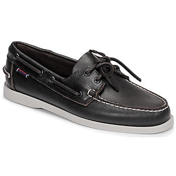 Sapatos Homem Sapato de vela Sebago DOCKSIDE PORTLAND Castanho