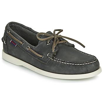 Sapatos Homem Sapato de vela Sebago DOCKSIDES PORTLAND CRAZY H Cinza