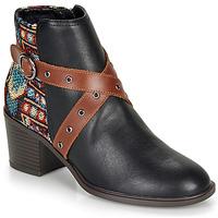 Sapatos Mulher Botins Desigual ALASKA TAPESTRY Preto