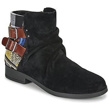 Sapatos Mulher Botas baixas Desigual OTTAWA PATCH Preto