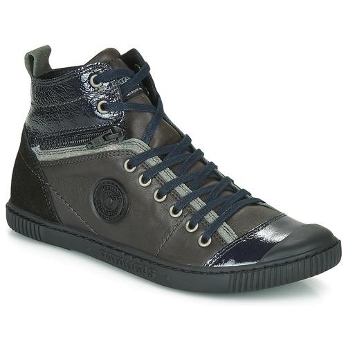 Sapatos Mulher Sapatilhas de cano-alto Pataugas BANJOU Antracite