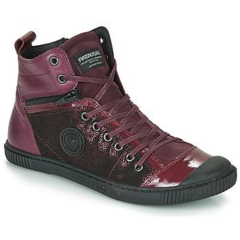 Sapatos Mulher Sapatilhas de cano-alto Pataugas BANJOU Beringela