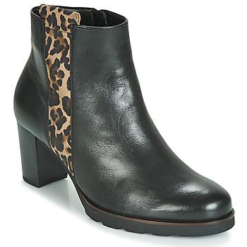 Sapatos Mulher Botins Gabor 3554122 Preto / Leopardo
