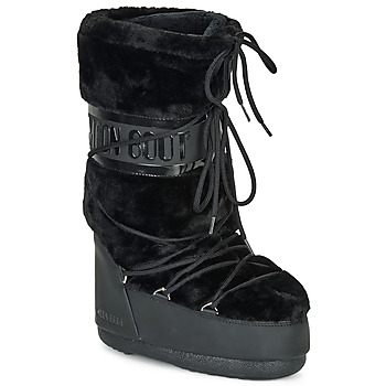 Sapatos Mulher Botas de neve Moon Boot MOON BOOT CLASSIC FAUX FUR Preto