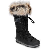 Sapatos Mulher Botas de neve Moon Boot MOON BOOT MONACO WP 2 Preto