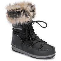 Sapatos Mulher Botas de neve Moon Boot MOON BOOT MONACO LOW WP 2 Preto