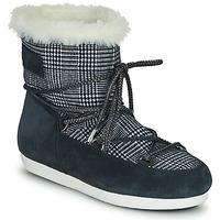 Sapatos Mulher Botas de neve Moon Boot MOON BOOT FAR SIDE LOW FUR TARTAN Marinho