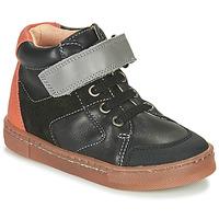 Sapatos Rapaz Sapatilhas de cano-alto Babybotte KEN Preto / Laranja