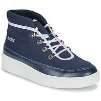 Sapatos Mulher Botas baixas Aigle SKILON MID Marinho