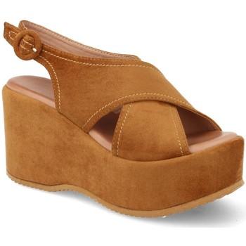Sapatos Mulher Sandálias Buonarotti 1FF-19168 Camel