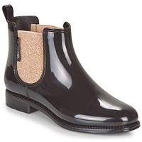 Sapatos Mulher Botas de borracha Be Only NASHVILLE Preto / Dourado
