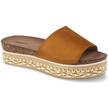 Sapatos Mulher chinelos Buonarotti 1AD-19127 Camel
