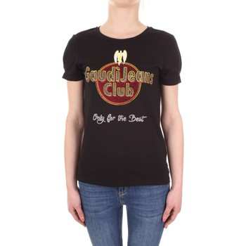 Textil Mulher T-Shirt mangas curtas Gaudi 911BD64039 Preto
