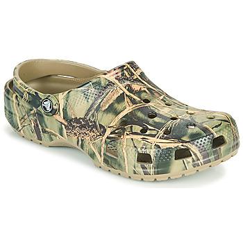 Sapatos Homem Tamancos Crocs CLASSIC REALTREE Cáqui