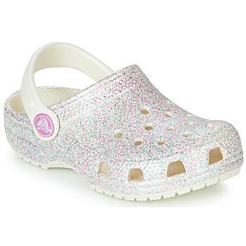 Sapatos Criança Tamancos Crocs CLASSIC GLITTER CLOG K Branco