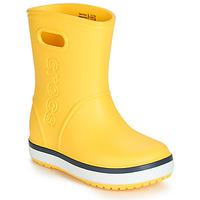 Sapatos Criança Botas de borracha Crocs CROCBAND RAIN BOOT K Amarelo / Marinho
