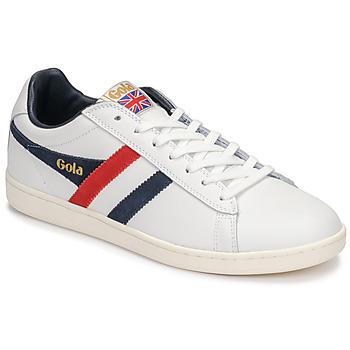 Sapatos Homem Sapatilhas Gola EQUIPE Branco / Azul / Vermelho