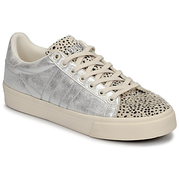 Sapatos Mulher Sapatilhas Gola ORCHID II CHEETAH Branco / Prateado