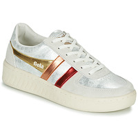 Sapatos Mulher Sapatilhas Gola GRANDSLAM SHIMMER FLARE Bege / Prateado