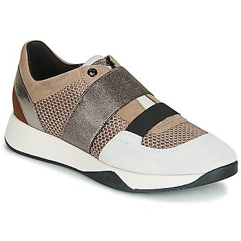 Sapatos Mulher Sapatilhas Geox D SUZZIE Toupeira / Prateado