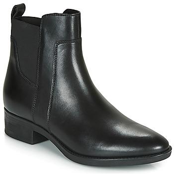 Sapatos Mulher Botas baixas Geox D FELICITY Preto
