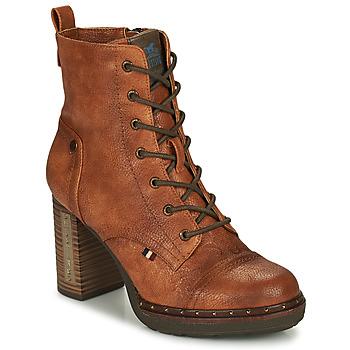 Sapatos Mulher Botins Mustang 1336502-309 Conhaque