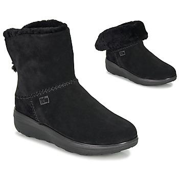 Sapatos Mulher Botas baixas FitFlop MUKLUK SHORTY III Preto